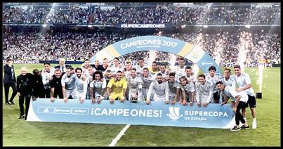 قهرمانی قاطع رئال مادرید در سوپرجام اسپانیا تیم فوتبال رئال مادرید با برتری برابر بارسلونا، سوپر جام باشگاه های اسپانیا را به کلکسیون افتخارات خود اضافه کرد. به گزارش ایرنا، دیدار برگشت سوپرجام فوتبال باشگاه های اسپانیا، بامداد پنجشنبه بین تیم های رئال مادرید و بارسلونا در ورزشگاه سانتیاگو برنابئو برگزار شد.کهکشانی های مادرید که در بازی رفت بارسلونا را در نیوکمپ سه بر یک شکست داده بودند در دیدار برگشت هم حاکم مطلق بر توپ و میدان بودند و به برتری دو بر صفر رسیدند.با این اوصاف، شاگردان […]